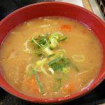 横浜市の港北ニュータウンにある吉野家の普通に美味しいとん汁